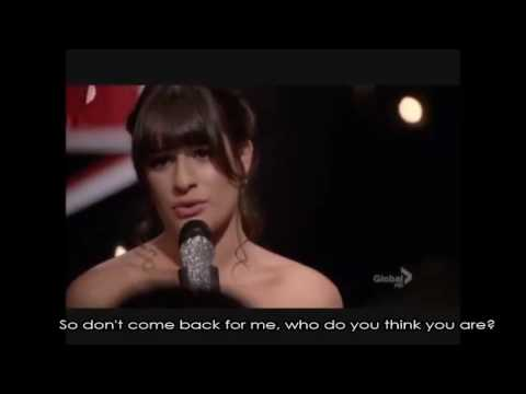 Glee - Jar Of Hearts (Full Performance with Lyrics)