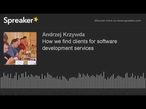 How we find clients for software development services