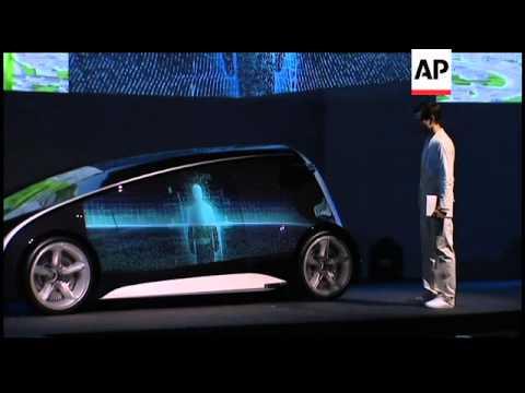 Toyota president unveils futuristic car resembling smartphone
