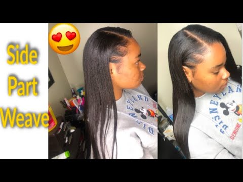 how-to-do-a-side-part-sew-in-weave-||-baby-hair