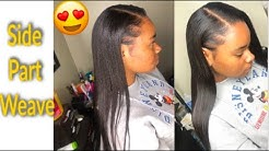 How to do a side part sew-in weave  || BABY HAIR