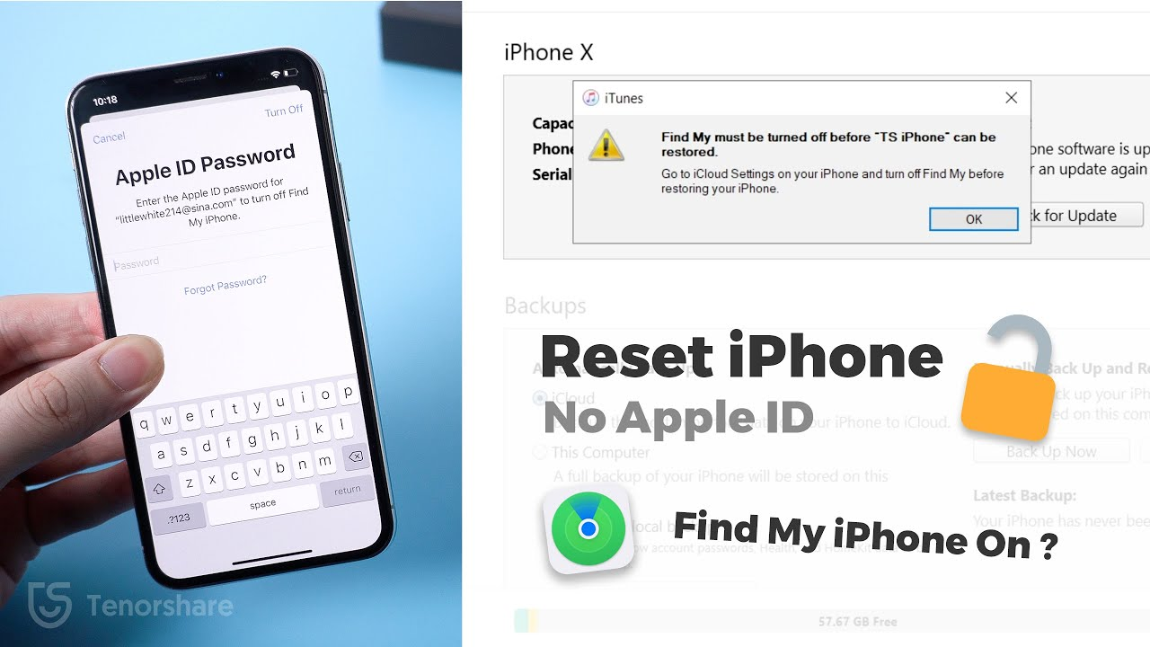 How to Reset iPhone without Apple ID Password when Find My iPhone is On