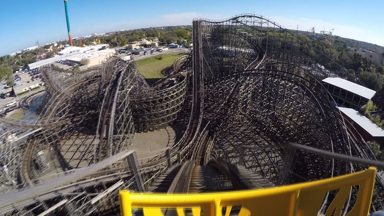 Gwazi Wooden Roller Coaster POV At Busch Gardens Tampa   YouTube