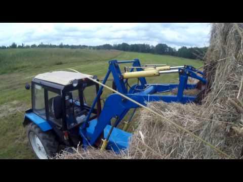 Sj4000 Погрузка сена в Камаз и покатушкии на нём