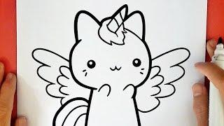 Como Dibujar Un Gato Unicornio Kawaii Youtube