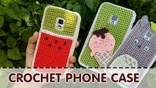 [206pro][snailboo] CROCHET PHONE CASE | Ideas &Tutorial | Watermelon | Icecream | Totoro
