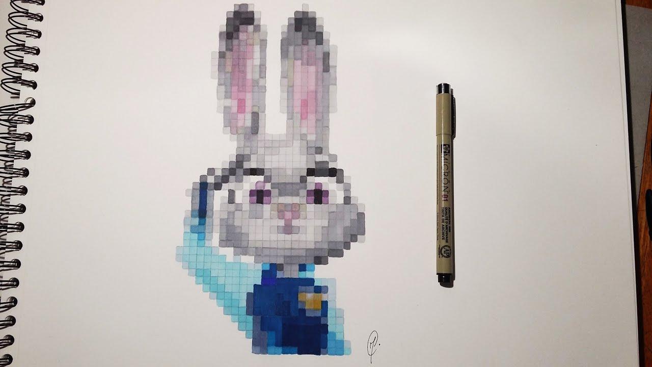 Realistic Pixel Art Judy Hopps Zootopia