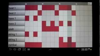 Demo how to make beats with Groove Mixer - the drum machine for Android