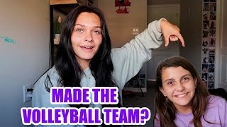 FINALLY A FAMILY VLOG! DID I MAKE THE VOLLEYBALL TEAM? EMMA AND ELLIE