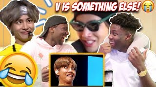 Download lagu BTS V FUNNY MOMENTS [TRY NOT TO LAUGH CHALLENGE] (RUBBERBAND EDITION)