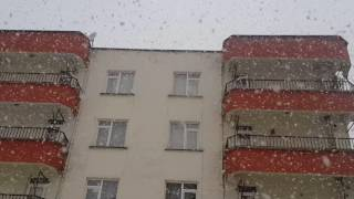 Giresun merkez Lapa lapa kar