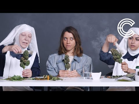 Aubrey Plaza Smokes Pot with the Weed Nuns  Strange Buds  Cut