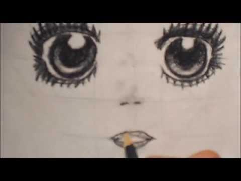 Dessin du visage d 39 un personnage de manga partie 3 le nez et la bouche youtube - Visage manga fille ...