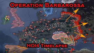 Operation Barbarossa Axis Victory - HOI4 Timelapse