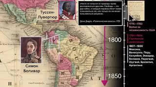 Движение за независимость в странах Латинской Америки (видео 3)| 1750-1900 | Всемирная история