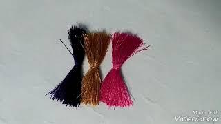 Making of raksha bandan with silk thread