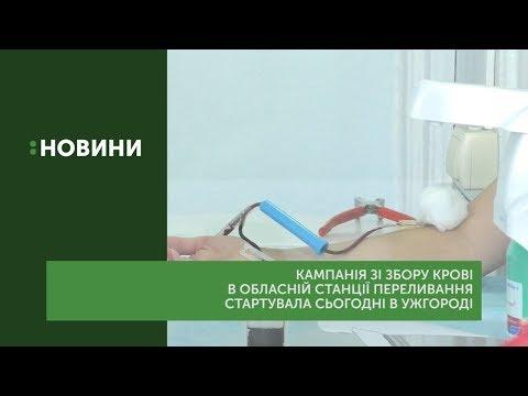 Кампанія зі збору крові в обласній станції переливання стартувала в Ужгороді