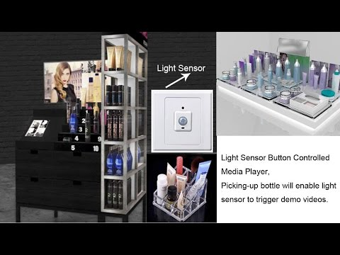 Light Sensor Button Media Player Bottle Controlled For Cosmetics Demonstration