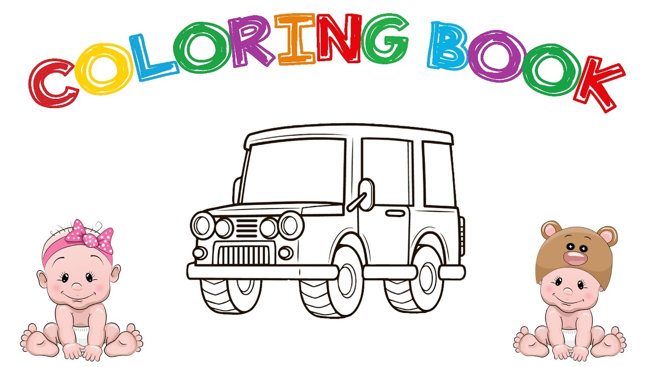 Learn Colors Toy Car Coloring Book