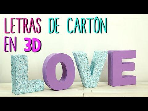 Cómo hacer Letras de Cartón en 3D - Decora tu cuarto - Manualidades con Cartón - Catwalk