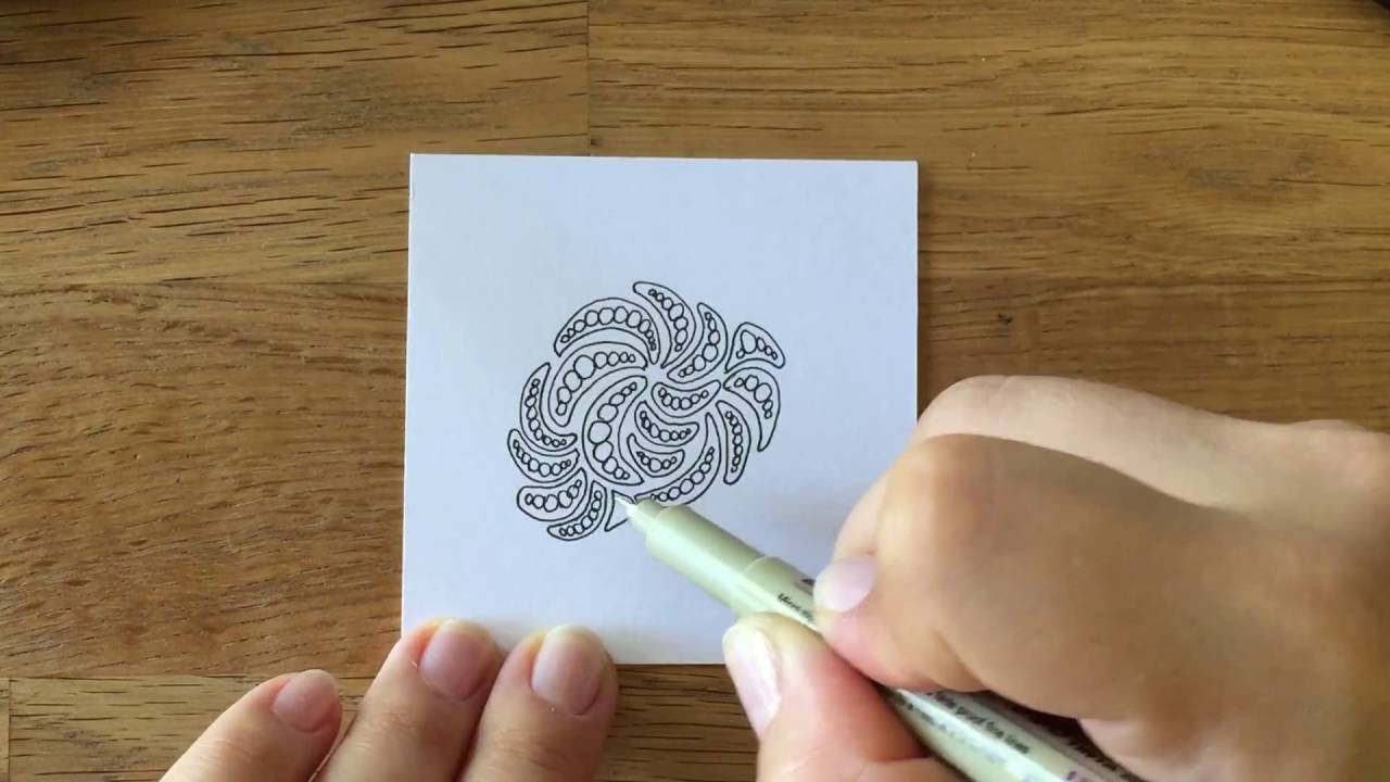 zentangle muster molygon - Zentangle Muster