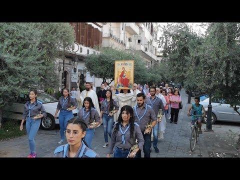 بالفيديو: أيقونة عذراء الآلام معزّية السوريين تجوب البلاد حاملة الرجاء والتعزية