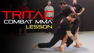 TRITAC Combat MMA Lesson #51: Punch Defense - Leg Trip - Footlock