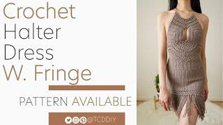 Crochet Fringe Dress  Pattern  Tutorial DIY