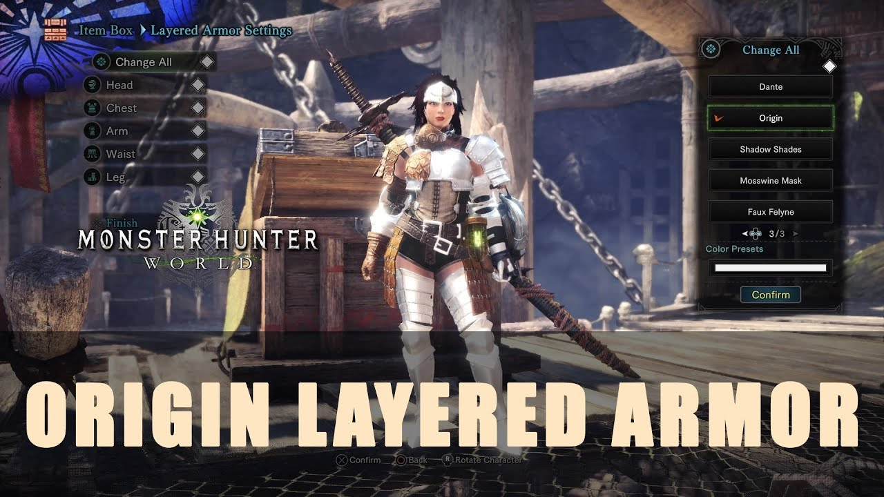 MHW: Origin Layered Armor - YouTube