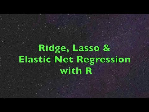 Ridge, Lasso & Elastic Net Regression with R | Boston Housing Data Example, Steps & Interpretation