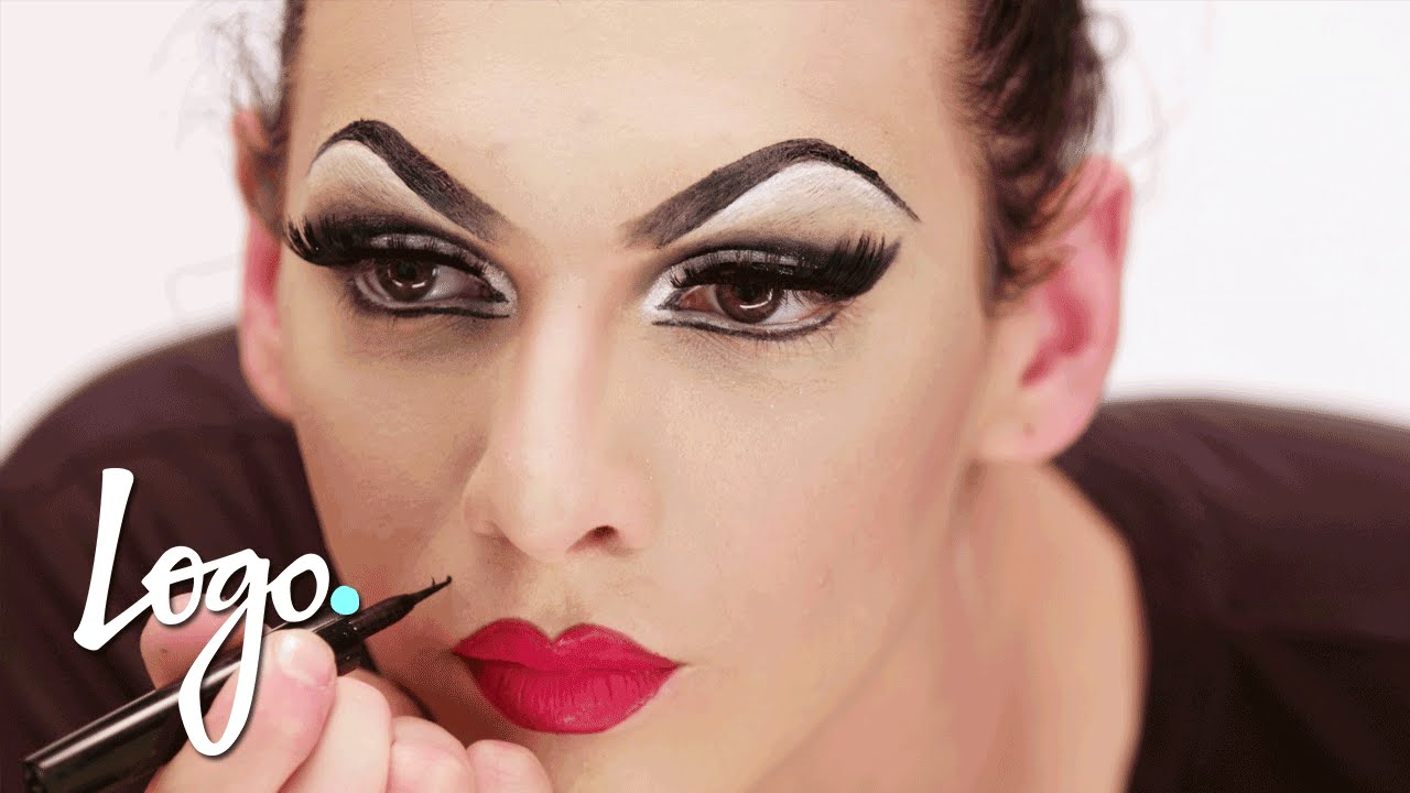 Drag Makeup Tutorial: Violet Chachki 'Leather and Lace Runway' Look | RuPaul's Drag Race | Logo - YouTube