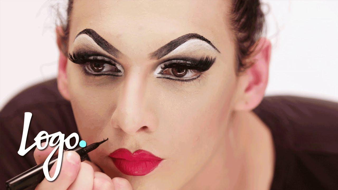 Drag Makeup Tutorial Violet Chachki \u0027Leather and Lace Runway\u0027 Look