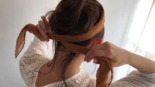 【簡単ヘアアレンジ】ターバンを使ったまとめ髪2 thumbnail