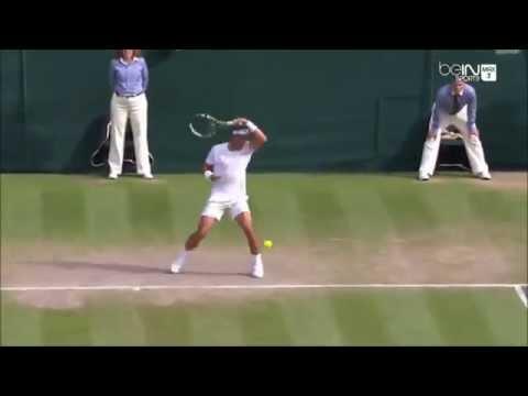 """Nick Kyrgios """"Trickshot """" Vs Rafael Nadal Wimbledon 2014"""