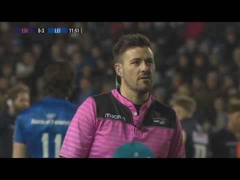 Fraser McKenzie binned for spiking cleanout tackle. [Edinburgh vs Leinster '19]