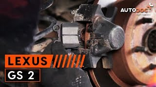 front and rear Brake Pads fitting LEXUS GS (UZS161, JZS160): free video