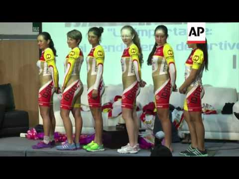 76f3f56f0 Colombia women s cycling team support controversial uniforms - YouTube