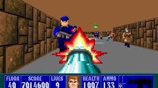 (Wolfenstein 3D) Wolf Overdrive (SDL) - Floor 40 (Knight Fall) 100%
