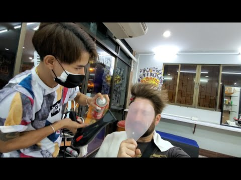 💈HAIR STYLED In Hostess Boy Salon In PATTAYA THAILAND | By Chorn At Fashion Hair 🇹🇭 4K