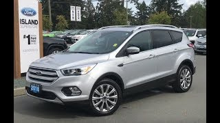 2018 Ford Escape Titanium W/ Moonroof, Leather, NAV Review| Island Ford