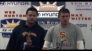 USC Football - Max Wittek & Wes Horton Sun Bowl Post Press Conf