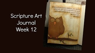 Scripture Art Journal Week 12 {James 1:5}