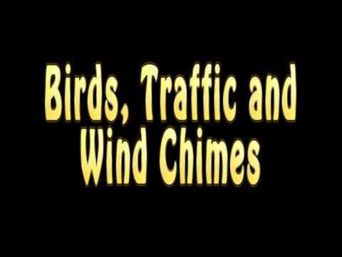 Birds, Traffic and Wind Chimes. Please use headphones