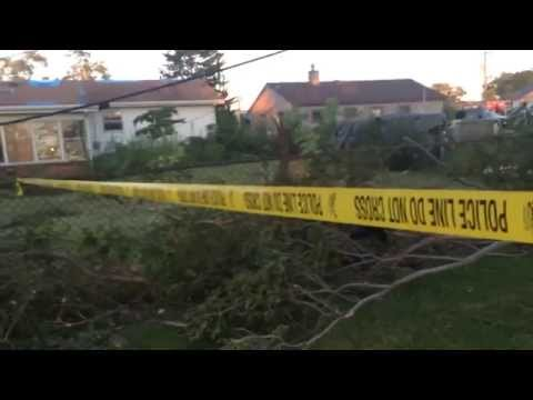 EF1 Tornado Damage in Grayslake, Illinois 8/3/15