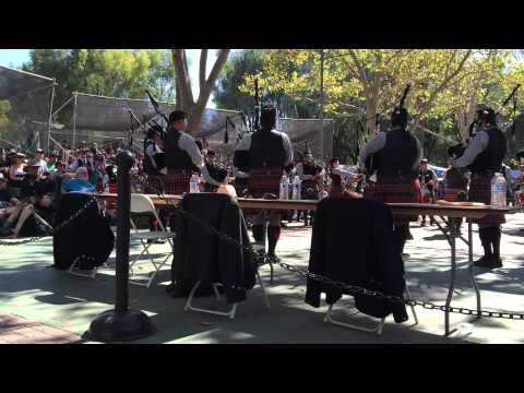 Prince Charles Pipe Band Grade 2 medley at Pleasanton