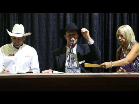 2017 Calgary Stampede International Livestock Auctioneer Championship Winner - Dean Edge