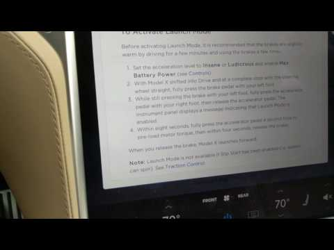 Exact Steps for Launch Mode in Tesla Model X P100D