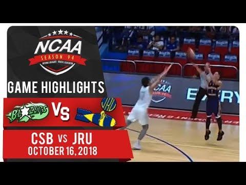 NCAA 94 MB: CSB vs. JRU | Game Highlights | October 16, 2018