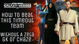 Star Wars Galaxy Of Heroes How to Beat GK Lead, Zeta Barris, B2, Fives & Aayla Time Out Team