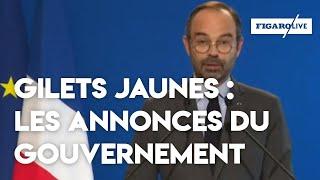 «Gilets jaunes» : les annonces d'Édouard Philippe